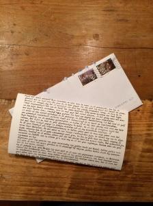 Een heel mooie getypte brief.